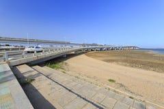 Noordelijk deel die van jimei brug kruisen Royalty-vrije Stock Foto's