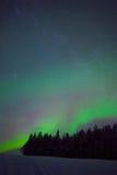 Noordelijk licht in Zweeds Lapland Stock Afbeeldingen