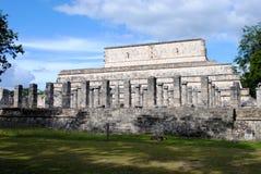 Noordelijke Colonnade, Chichen Itza Stock Afbeelding