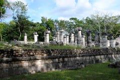Noordelijke Colonnade, Chichen Itza Royalty-vrije Stock Foto's