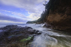 Noordelijke Heilige Lucia Coastline Royalty-vrije Stock Afbeelding