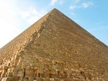 Noordelijke kant van de Grote Piramide van Giza Royalty-vrije Stock Foto's
