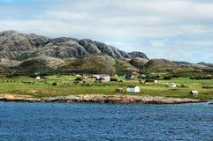 Noordelijke kust van Noorwegen stock foto
