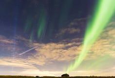Noordelijke lichten Stock Afbeeldingen