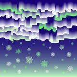 Noordelijke lichten Abstracte vector vrolijke Kerstmis als achtergrond Stock Afbeeldingen