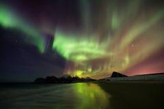 Noordelijke Lichten, Aurora Borealis royalty-vrije stock foto's