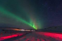 Noordelijke Lichten Aurora Borealis royalty-vrije stock fotografie