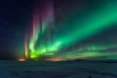 Noordelijke Lichten Aurora Borealis royalty-vrije stock afbeeldingen
