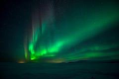 Noordelijke Lichten Aurora Borealis royalty-vrije stock afbeelding