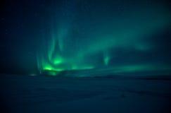 Noordelijke Lichten Aurora Borealis Stock Afbeeldingen