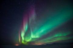 Noordelijke Lichten Aurora Borealis Royalty-vrije Stock Foto's