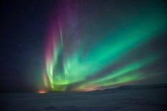 Noordelijke Lichten Aurora Borealis Stock Fotografie