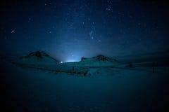 Noordelijke Lichten Aurora Borealis Stock Foto's