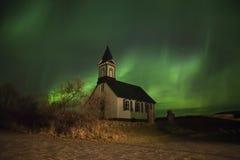 Noordelijke lichten. Borealis van de dageraad Stock Fotografie