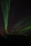 Noordelijke Lichten in Bremnes dichtbij Harstad, Noorwegen royalty-vrije stock foto's