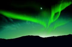 Noordelijke lichten, Dageraad royalty-vrije illustratie