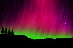 Noordelijke lichten, Dageraad Stock Afbeeldingen