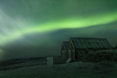 Noordelijke Lichten (Dageraad Borealis) Royalty-vrije Stock Afbeeldingen