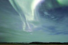 Noordelijke lichten in de hemel van IJsland Stock Foto
