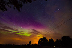 Noordelijke Lichten en grote dipper II stock fotografie