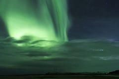 Noordelijke lichten in IJsland Royalty-vrije Stock Afbeelding