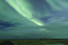 Noordelijke lichten in IJsland Stock Foto's