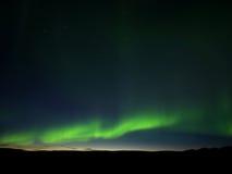 Noordelijke lichten, noordelijk IJsland Stock Foto's