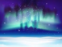 Noordelijke lichten vectorillustratie als achtergrond Stock Afbeeldingen