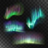 Noordelijke lichten vectorreeks Stock Foto