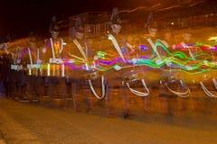 Noordelijke Lichtenparade in Hoogeveen, Nederland royalty-vrije stock foto's