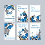 Noordelijke Mariana Islands Patriotic Cards voor Stock Fotografie