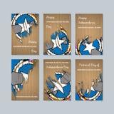 Noordelijke Mariana Islands Patriotic Cards voor stock illustratie