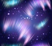 Noordelijke naadloze Lichten Stock Afbeeldingen