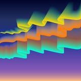 Noordelijke of polaire lichten, exemplaar-ruimteachtergrond, vectorillustratie Stock Foto's