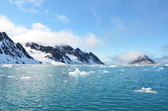 Noordelijke Svalbard Royalty-vrije Stock Afbeeldingen