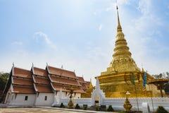 Noordelijke Thaise pagode Stock Foto's