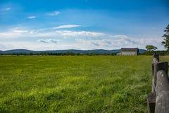 Noordelijke Virginia Farm Land Stock Afbeelding