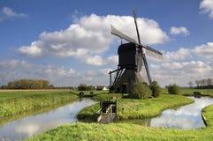 Noordeveldse-Windmühle Stockbilder