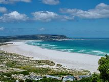 Noordhoek Beach on the Cape Peninsula stock images