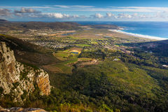 Noordhoek beach from Silvermine Royalty Free Stock Photos