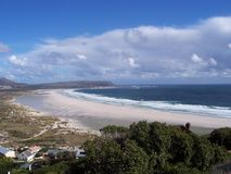 Noordhoek Capetown longbeach and sky Royalty Free Stock Images