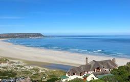 Noordhoek Fairytale. View of Noordhoek Beach from Chapman's Peak road in Cape Town, South Africa royalty free stock photo