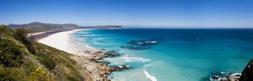 Noordhoek Plażowy panoramiczny Zdjęcia Royalty Free