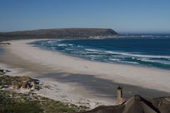Noordhoek strand, uddestad, Sydafrika royaltyfria foton