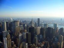 Noordoostelijk Manhattan, New York Stock Foto's