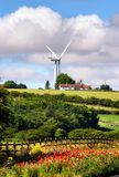Noordoostelijk van de windturbine Engeland het UK Royalty-vrije Stock Foto