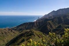 Noordoostelijke kust van Tenerife Royalty-vrije Stock Foto