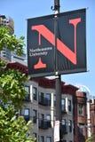 Noordoostelijke Universiteit in Boston, Massachusetts stock fotografie
