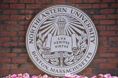 Noordoostelijke Universiteit in Boston, Massachusetts stock foto's