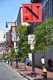 Noordoostelijke Universiteit in Boston, Massachusetts stock afbeeldingen